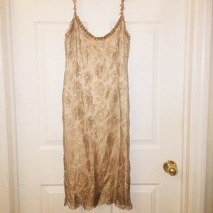 EUC! ESCADA 💯% authentic metallic lace silk dress